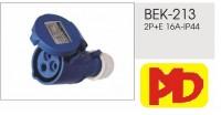 Ổ - Phích cắm công nghiệp Phích nối không kín nước IPP-BEK-213