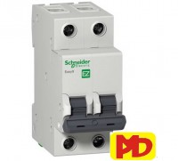 MCB CB-Tép BREAKER MCB 2P 6A Schneider