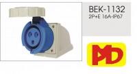 Ổ - Phích cắm công nghiệp Ổ cắm gắn nổi kín nước IP67-BEK-1132