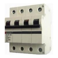 MCB CB-Tép BREAKER CẦU DAO TỰ ĐỘNG (MCB) MITSUBISHI -BHW-T4 4P 6A 4.5kA
