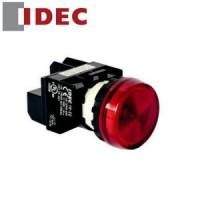 BUTON ĐÈN BÁO - CÒI Đèn LED: Không có biến thế, IP 65 ngoài mặt tủ (Đèn báo vòm Φ22) YW1P-2EQM3- IDEC