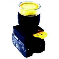 BUTON ĐÈN BÁO - CÒI Nút nhấn có đèn, loại phẳng, IP 65 ngoài mặt tủ- YW1L-MF2E10QM3 (R, Y)