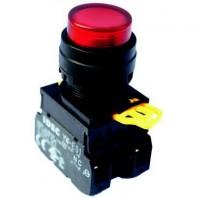 Bộ lập trình PLC PRO-PLC Button (Nút nhấn) Φ22 idec-  YW1L-M2E10QM3 (R, Y) 1NO, nhấn nhả